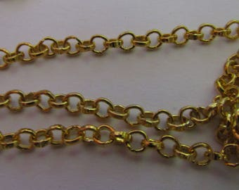 1 meter of gold chain