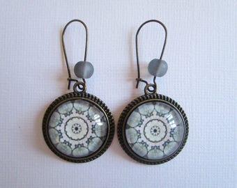 """Kaléïdoscope"", hanging earrings, costume jewelry"