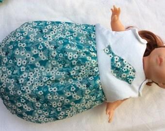 Liberty Mitsi Mint sleeping bag doll 36 cm