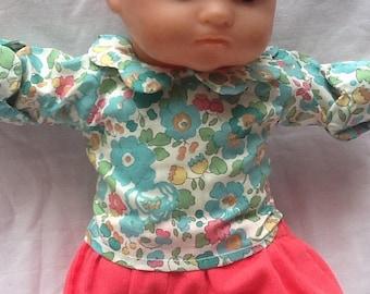 Liberty Betsy green collared blouse petal doll 36 cm