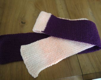 SCARF BICOLOR - purple and pink - size 112 cm * 9 cm