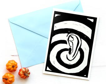 Postcard Art Print Ear