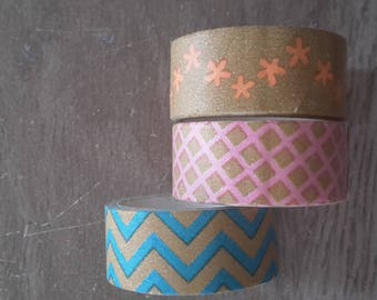 Washi tape X 3 scrapbooking