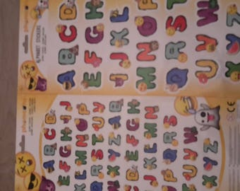 Stickers alphabet emoticon stickers