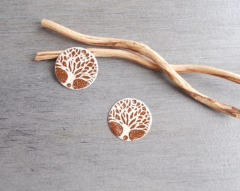 X 2 tree of life ivory and Brown sequins