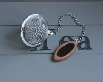 Ball tea Infuser, stainless steel biscuit chocolate tray in resin