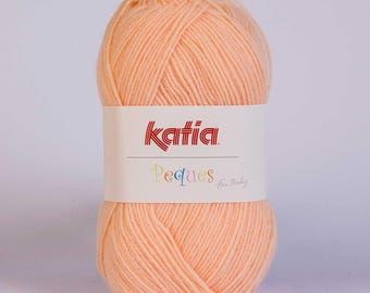 Easter from Katia 84928 light orange color wool