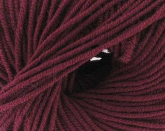 100% Merino Wool Burgundy No. 25 (Katia) - ball 50 gr.