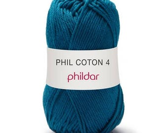 thread phildar yarn PHIL cotton 4 duck colors