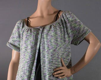 Summer cotton, short sleeves and wide neck vest