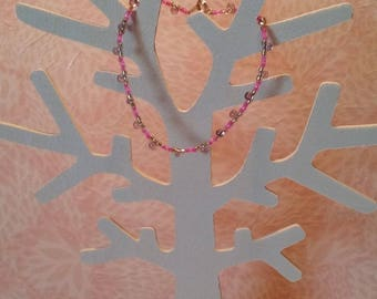 Bracelet - gold and pink