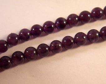 5 Amethyst beads 8 mm purple - round - gemstone gemstone AM25