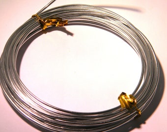 5 meters of aluminum wire in 2.0 mm silver - metal - wire - FF 2.0 MM - silver wire