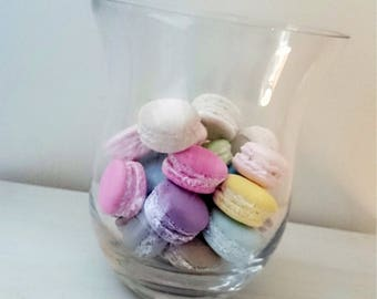 Lot 8 macarons  en plâtre teintés dans la masse Style Shabby