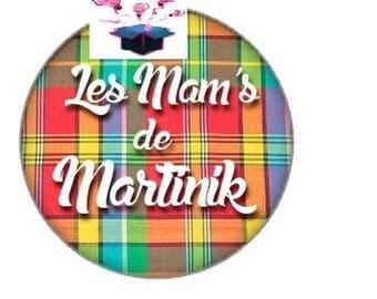 1 cabochon clear 18 mm martinique theme