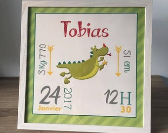 frame birth 30x30cm custom choice Theme