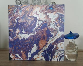 abstract copper violet modern painting