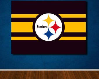 steelers wall art | etsy