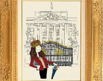 Buckingham Palace counted cross stitch