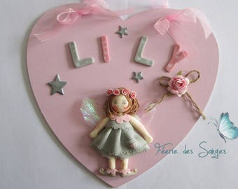 Child's name (customizable) cold porcelain heart