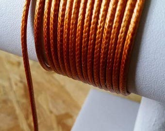 Copper 2mm leather cord