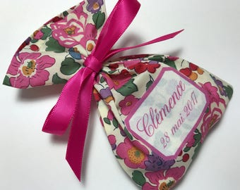 10 bags of sweets customized Liberty Betsy fuchsia