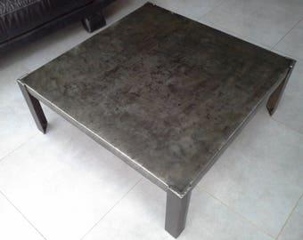 Industrial furniture steel coffee table
