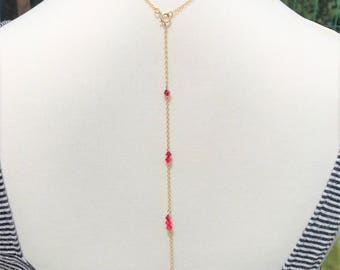 Back in red gold 14 k gold filled jewelry necklace