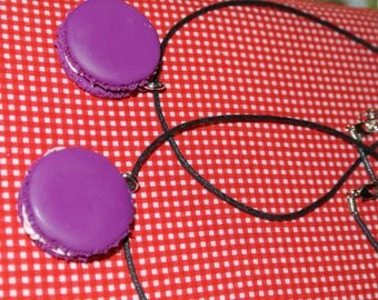 violet macaroon necklace