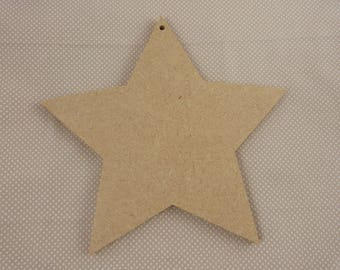 Star MDF blank for home decor