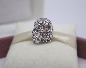 Genuine Pandora Charming Owls Charm 791966