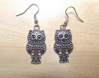 Earrings hand made OWL charm.