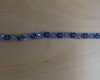 Blue swarovski pearl bracelet.