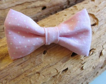 Hair clip pink dot Ribbon