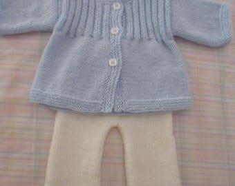 Blue and white newborn baby set