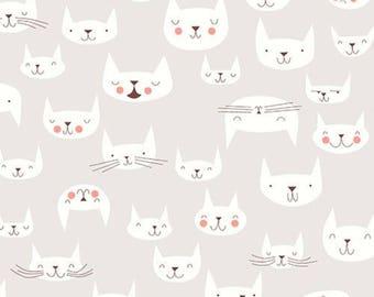 Cattitude Cream - Andover Fabrics
