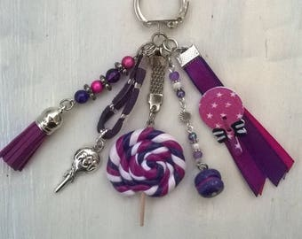 "bag charm or Keyring ""gluttony"" theme"