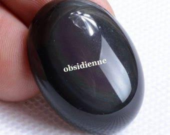 stunning Obsidian 30 x 22 mm cabochon