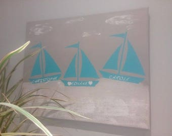 Canvas personalized - gift idea handmade decor