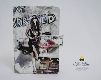 Just Arrived Passport Cover with Decoupage Technique / Passport Holder / Passport Case / Woman Passport / MADE TO ORDER