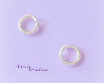8 X 1.50 mm - sterling silver open rings