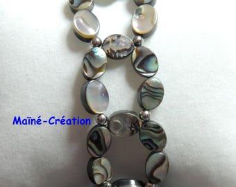 Elastic bracelet abalone Pearl (Abalone)