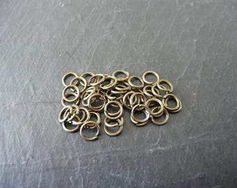 Set of 100 plain rings bronze 6mm