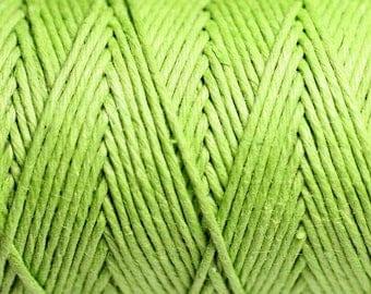 Reel 90 m - 1.2 mm lime green hemp twine cord - 8741140010956