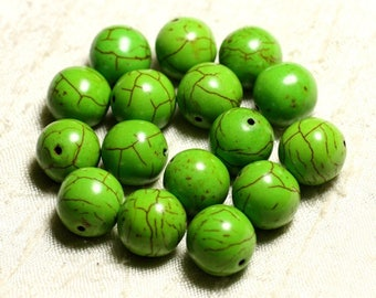 4pc - synthetic Turquoise beads 14mm Green 4558550028655 balls