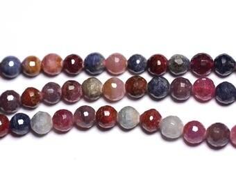 Stone - bead 1pc - Rubis Saphir natural balls faceted 6mm - 8741140003545