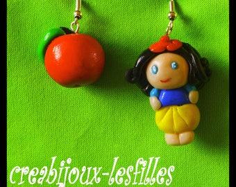 Apple earring jewelry birthday gift