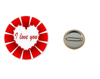 Badge I love You - 25 mm Badge