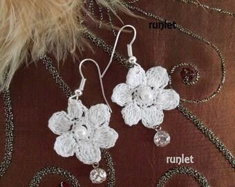 crochet flower,crochet jewelry