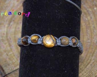 Shamballa bracelet with Tiger eye stones